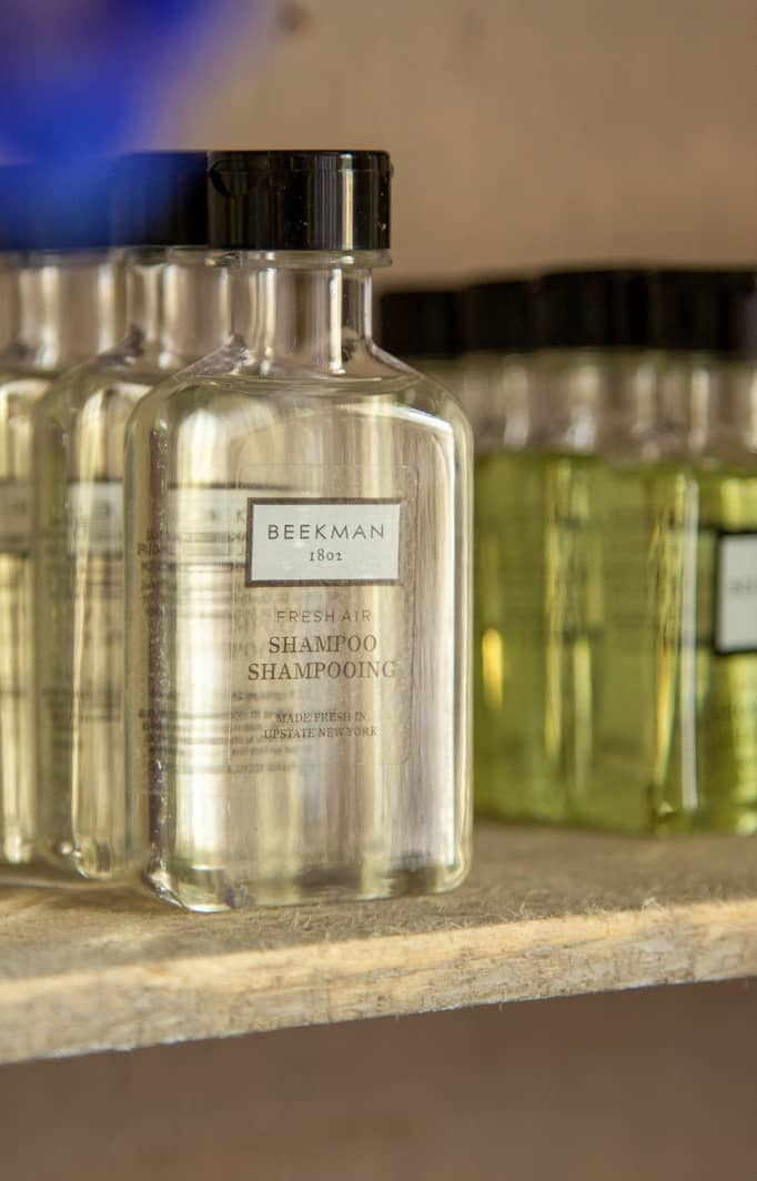 Luxurious Beekman shampoo and conditioner