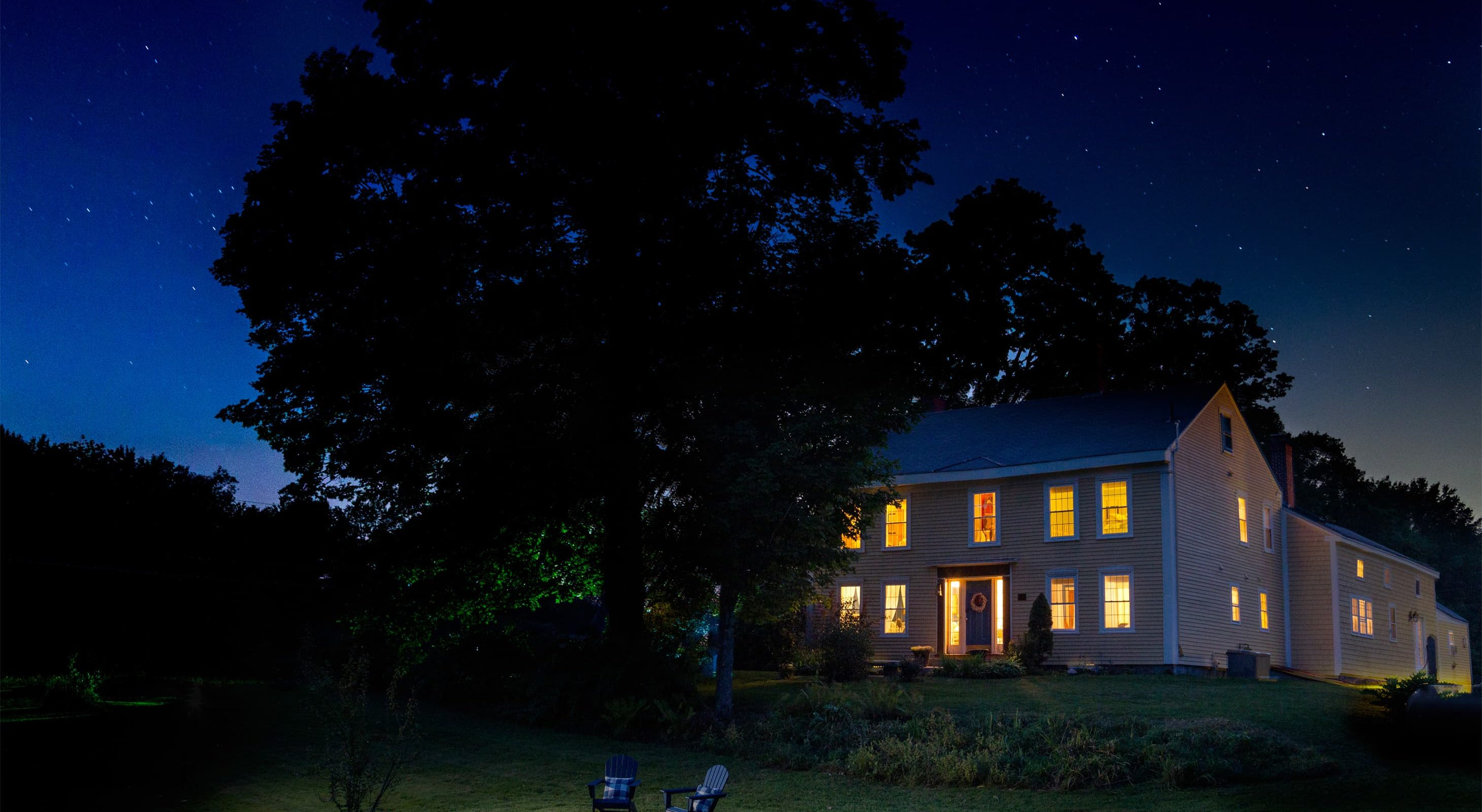 Sit under the stars at our Southern Maine bed and breakfast